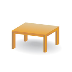 Isometric empty wooden table - illustation
