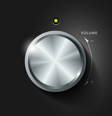 Volume knob, vector illustration
