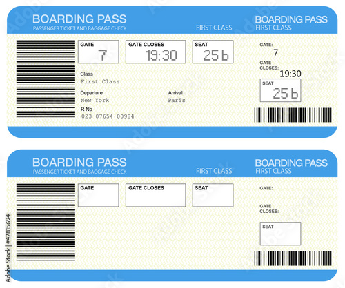 Airline boarding pass tickets stockfotos und lizenzfreie for Fake boarding pass template