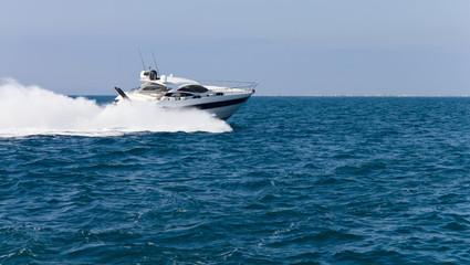 Garden Poster Water Motor sports Luxury yacht