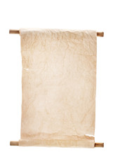 Old scroll isolated on white