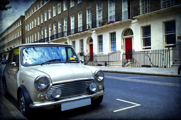 Tuinposter Oude auto s London Road
