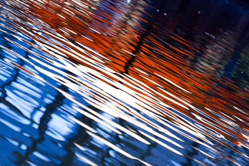 Color of the reflected waves on water.