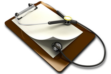Stethoscope with Notepad