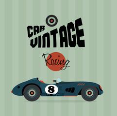 Wall Mural - Vector vintage sport racing cars