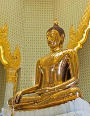 Huge pure golden Buddha statue in Bangkok, Thailand