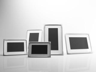 many photo frames