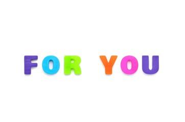 アルファベット FOR YOU