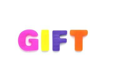 アルファベット GIFT