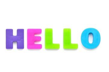 アルファベット HELLO