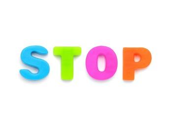 アルファベット STOP