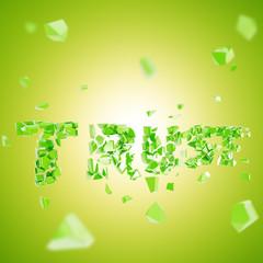 Trust is broken abstract composition