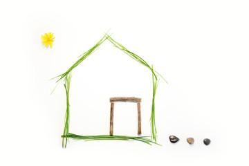 Maison écologique face