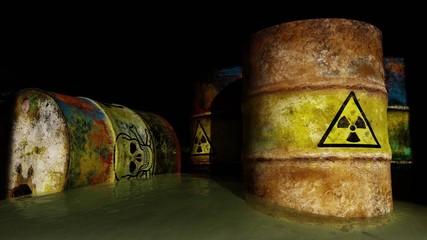 Obraz Toxic radioactive waste - fototapety do salonu