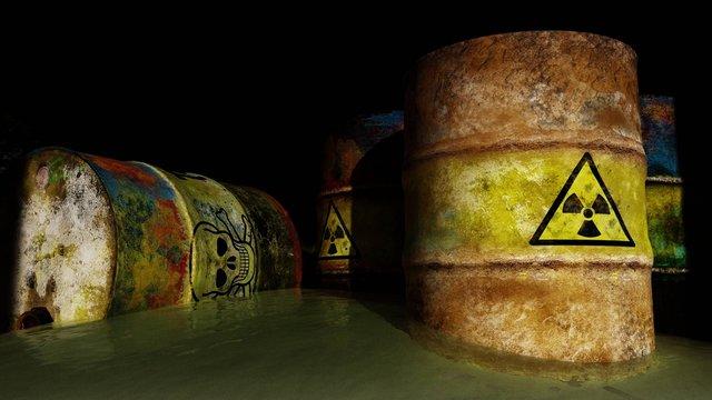 Toxic radioactive waste