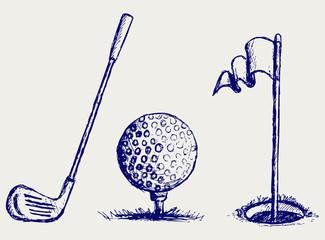 Golf icon set
