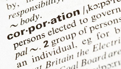 corporation word