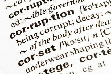 corruption word