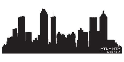 Fototapete - Atlanta, Georgia skyline. Detailed vector silhouette