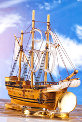 maritime yacht statue