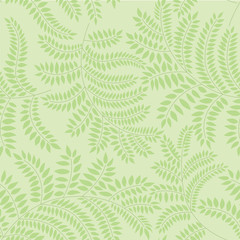seamless pattern with leaves on green background, Print