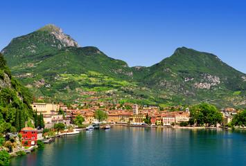 the city of Riva del Garda, Lago di Garda,Italy Wall mural