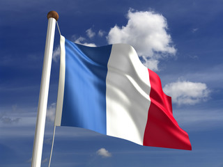France flag (with clipping path)