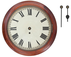 Light bulb and clock with Roman numerals