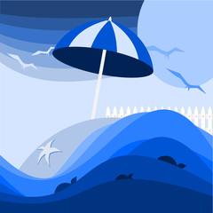 sfondo marino blu