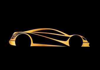Hızlı ve karizmatik altın otomobil