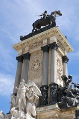 Monument to King Alfonso XII, Retiro Park, Madrid, Spain