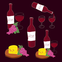 vector illustration of red wine