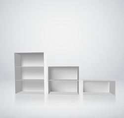 Vector shelves for exhibit