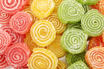 Fototapete - sweet jelly candies, close up