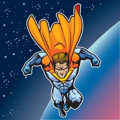 Fotobehang Superheroes Super human flying 4