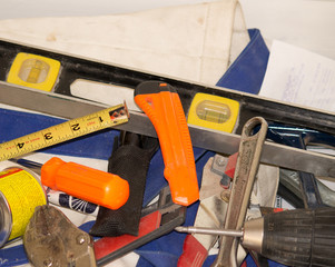 Handyman and electrician tools