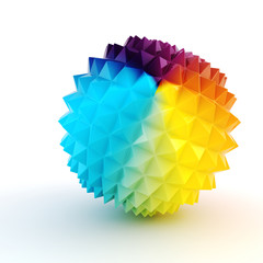 3d abstract colorfull sphere on white background
