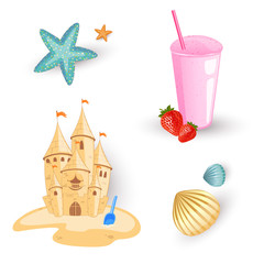 Vector Illustration of Beach Elements