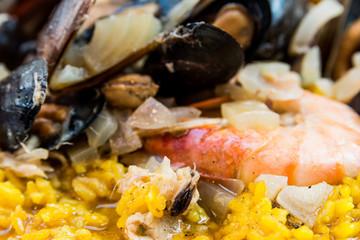 traditionnal spanish food paella.