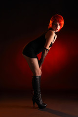 sexy hexy girl in black and red