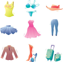 Various fashion clothes.