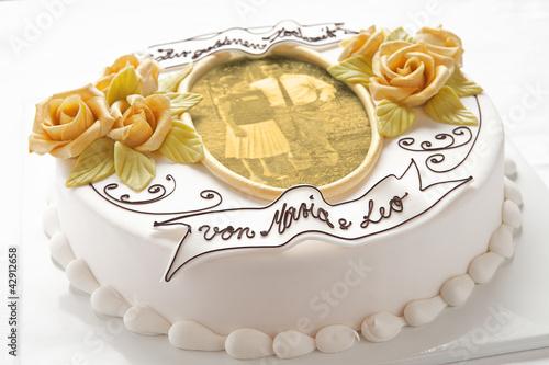 Muster Torte Goldene Hochzeit Stockfotos Und Lizenzfreie Bilder