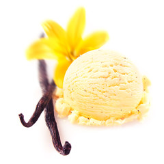 Vanilla pods with icecream