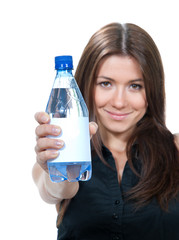 Woman showing drinking water