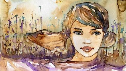 Wall Murals Painterly Inspiration dziewczyna,