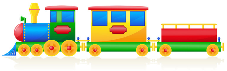 children train vector illustration