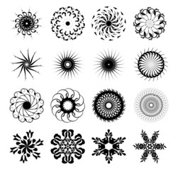 Set of abstract sun concepts
