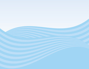 Abstract waves background with gradient sky
