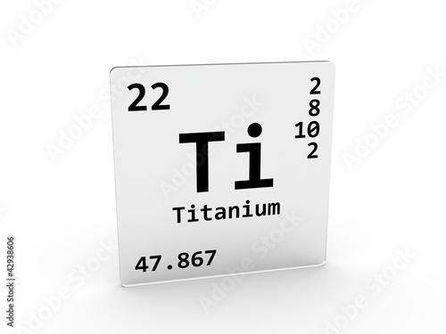 Titanium Symbol Ti Element Of The Periodic Table Stock Photo