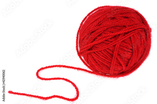 pelote de laine rouge photo libre de droits sur la banque d 39 images image 42940062. Black Bedroom Furniture Sets. Home Design Ideas
